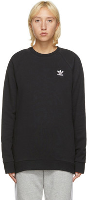 adidas Black Trefoil Essentials Crewneck Sweatshirt