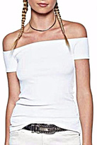 Michael Lauren Parket Open Shoulder Top