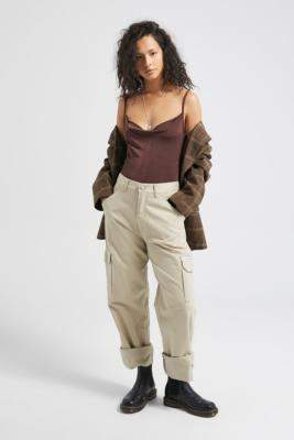 Free People Cowls In The Club Brown Bodysuit - brown L at Urban Outfitters