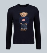 Ralph Lauren Purple Label Flag Bear cashmere sweater