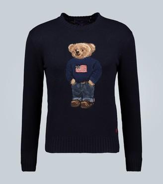 Ralph Lauren Purple Label Flag Bear cashmere sweater