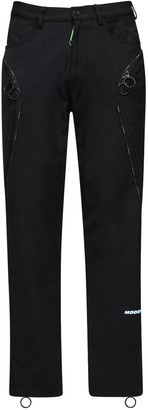 Off-White Embroidered Wide Leg Nylon Blend Pants