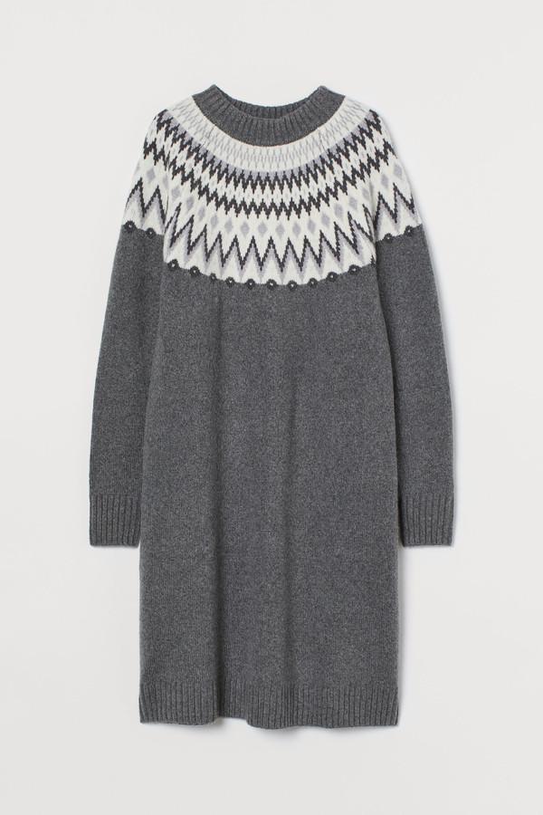 H&M Jacquard-knit dress