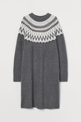 H&M Jacquard-knit dress