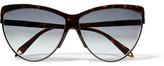 Victoria Beckham Cat-Eye Tortoiseshell Acetate Sunglasses