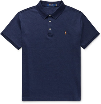 Polo Ralph Lauren Slim-Fit Melange Pima Cotton Polo Shirt