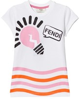 Fendi White and Pink Lightbulb Print Tee