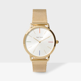 Paul Smith Unisex White And Gold 'Ma' Watch