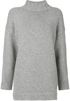 Alexander McQueen oversized high neck jumper - women - Cashmere - XXS