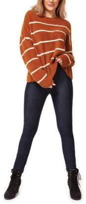 Dex Camel Striped Sweater