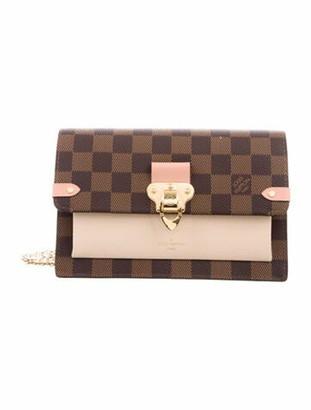 Louis Vuitton 2019 Damier Ebene Vavin Chain Wallet Brown