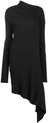 Marques Almeida Ribbed-Knit Asymmetric Dress