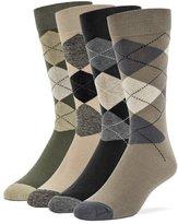 Galiva Men's Cotton Argyle Dress Socks, 4 Pairs