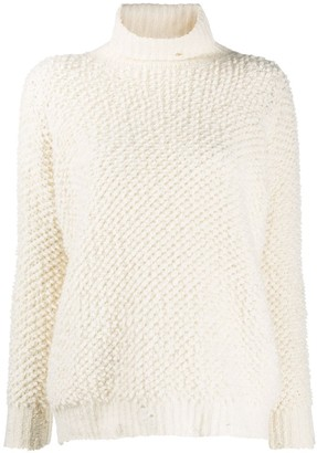 Avant Toi Roll-Neck Chunky-Knit Jumper