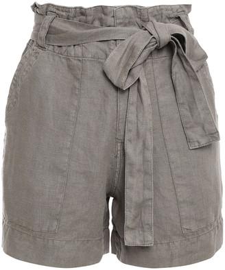 Joie Daynna Belted Linen Shorts