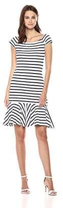 Milly Women's Rivera Knit Scoop Neck Fitted Bridgitte Dress