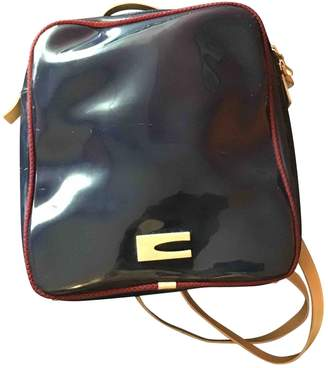 Coccinelle Blue Patent leather Backpacks