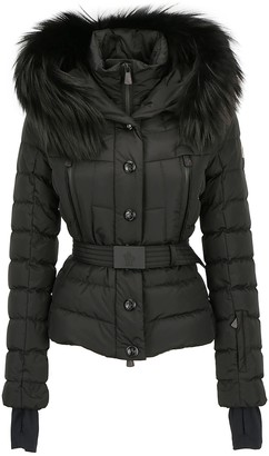 MONCLER GRENOBLE Hooded Fur Trimmed Puffer Jacket