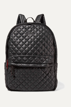 MZ Wallace Metro Leather-trimmed Quilted Shell Backpack
