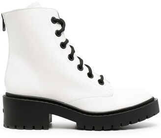 Kenzo Two-Tone Combat Boots