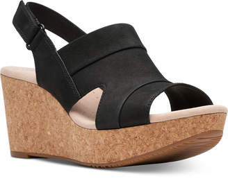 Clarks Collection Women Annadel Ivory Wedge Sandals Women Shoes