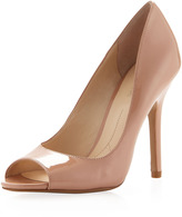 Boutique 9 Pacey1 Patent Peep-Toe Pump, Nude