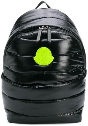 Moncler luminous logo puffer backpack