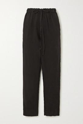 Bassike Linen Pants - Black