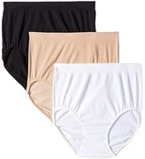 Jockey Seamfree Breathe Brief (Diamond White/Black/Light) Women's Underwear