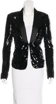 Rachel Zoe Sequined Shawl Collar Blazer