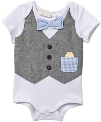 Miniclasix Bow Tie Bodysuit (Baby Boys)