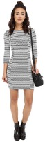 BB Dakota Lively Knit Jacquard and Elastic Trim Dress