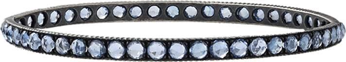 Yossi Harari Lilah Pave Blue Sapphire Medium Bangle