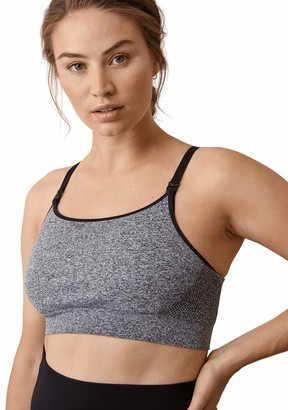 Boob Women's Adjustable Breast-Feeding Soft Sports Bra in Sustainable Fibers with Easy Nursing Access (Grey Melange M)