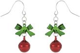 Accessorize Bow & Bell Short Drop Earrings
