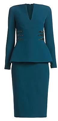Safiyaa Women's Lennon Heavy Crepe Peplum Dress