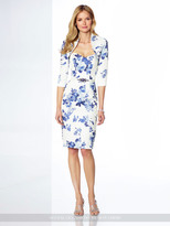 Social Occasions by Mon Cheri - 117810 Two-Piece Printed Soft Mikado Dress Set