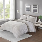 Melange Home Urban Habitat Space Dyed Cotton Jersey Knit Duvet Cover Set