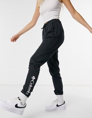 Columbia Logo French Terry joggers in black