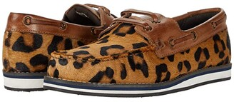 Roper Filly (Tan Leopard Hair on Hide/Burnished Tan Leather Accents) Women's Slip on Shoes