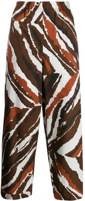 Cavallini Erika cropped printed trousers