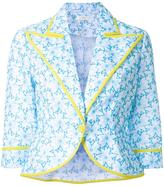 DELPOZO floral print cropped jacket - women - Cotton - 36