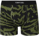 Tom Ford Zebra-Print Stretch-Cotton Boxer Briefs