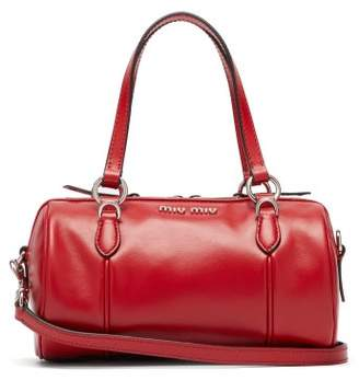 Miu Miu Small Leather Bowling Bag - Womens - Red
