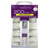 Nailene 200 Nail Tips Curve Overlap 1 Kit