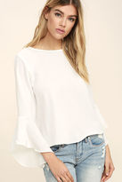 Glamorous Ayo White Long Sleeve Top