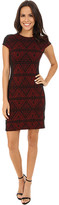 Karen Kane Knit Jacquard Contrast Dress