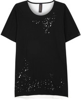 Miharayasuhiro Monochrome Distressed Cotton T-shirt