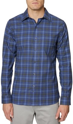 Hickey Freeman Mercer Regular Fit Plaid Button-Up Shirt