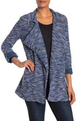 Bagatelle Drape Front Tweed Blazer